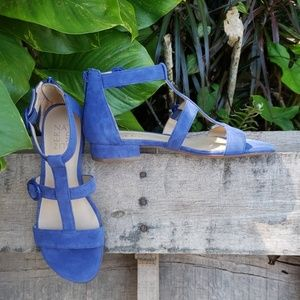 🚨NEW LIST! Naturalizer Blue Suede Caged Sandals
